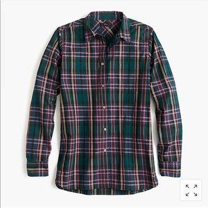 J. Crew Classic Fit Boy Shirt Signature Tartan